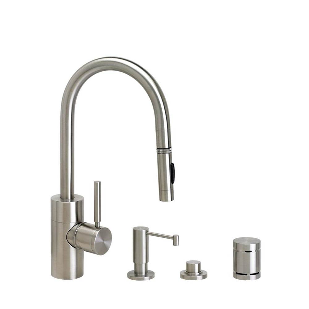 Waterstone Contemporary Prep Size Plp Pulldown Faucet - Toggle Sprayer - 4Pc. Suite