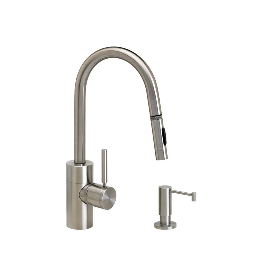Waterstone Contemporary Prep Size Plp Pulldown Faucet - Angled Spout - Lever Sprayer - 2Pc. Suite