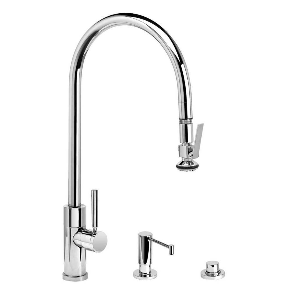 Waterstone Modern Extended Reach Plp Pulldown Faucet - Lever Sprayer - 3Pc. Suite