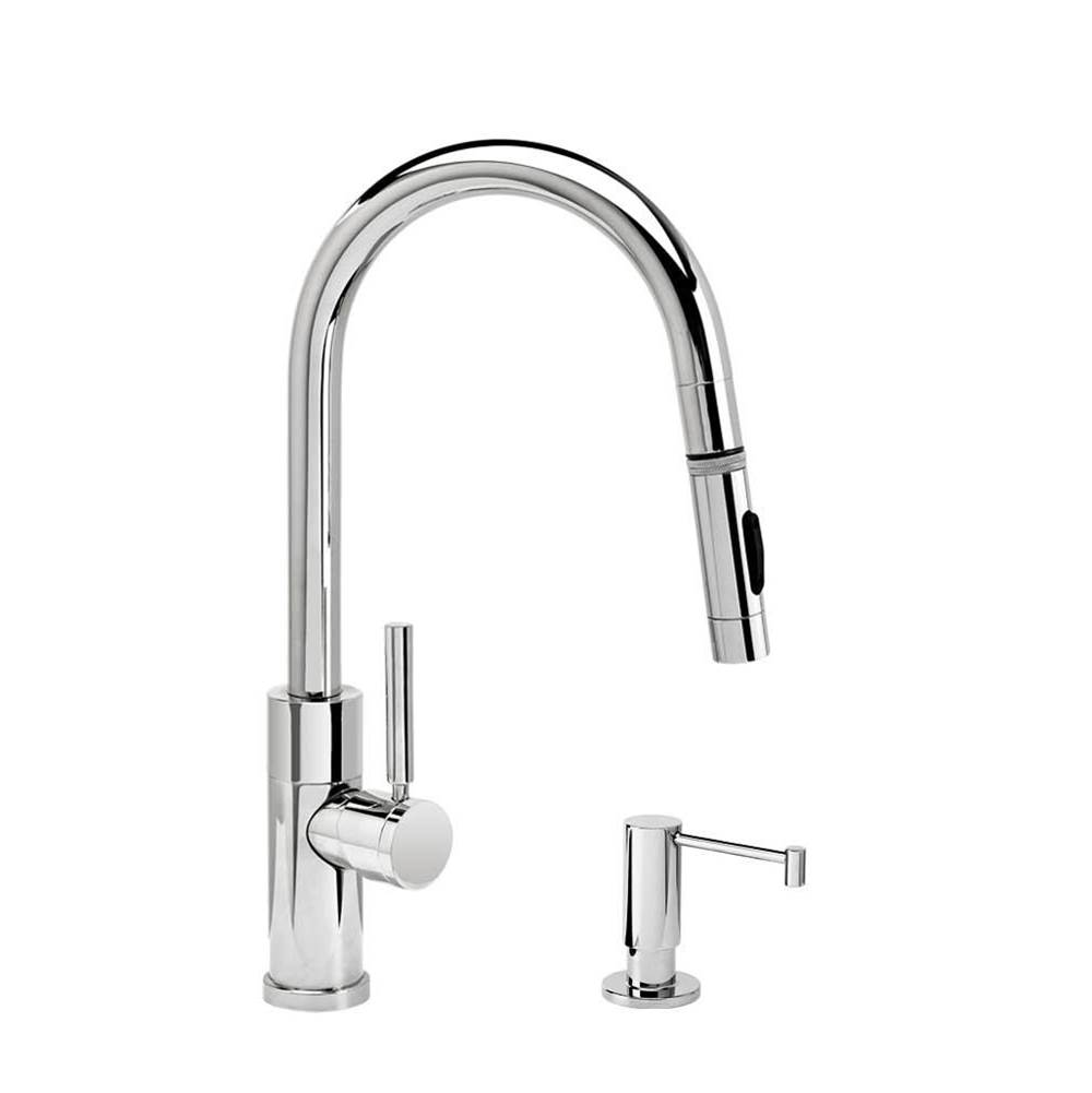 Waterstone Modern Prep Size Plp Pulldown Faucet - Angled Spout - Toggle Sprayer - 2Pc. Suite
